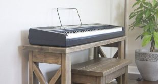 DIY Digital Piano Stand plus Bench (...a $25 project