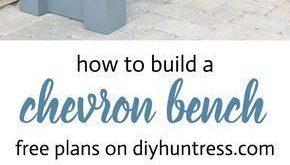 DIY Wooden Chevron Bench