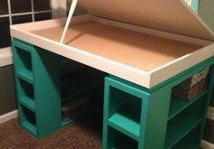 Craft-Schreibtisch: Ich möchte diesen Schreibtisc... - #aufbewahrung #CraftSchr...