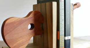 DIY Scrap Wood Guitar Bookends - Easy Tutorial For Scrap Wood Projects