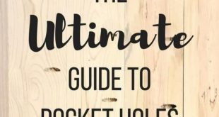 Learn all my tricks and tips with the ULTIMATE guide to pocket holes! Get perfec...