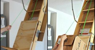 Store items in your attic with ease with this DIY attic storage lift! - #Attic #...