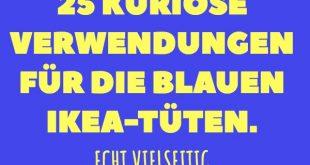 25 kuriose Verwendungen für die blauen IKEA-Tüten.