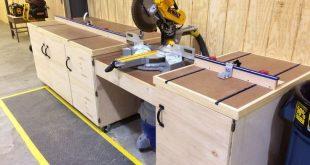 Chop saw bench - #Bench #Chop #workbench