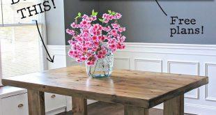 DIY Husky Modern Dining Table How to build a DIY husky modern dining table for $...