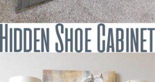 DIY Shoe Cabinet – Hidden Storage – Holzbearbeitungspläne