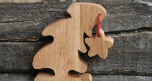 Holzbearbeitung – Kleine Eiche – Dekoration – Gesang aus Holz …
